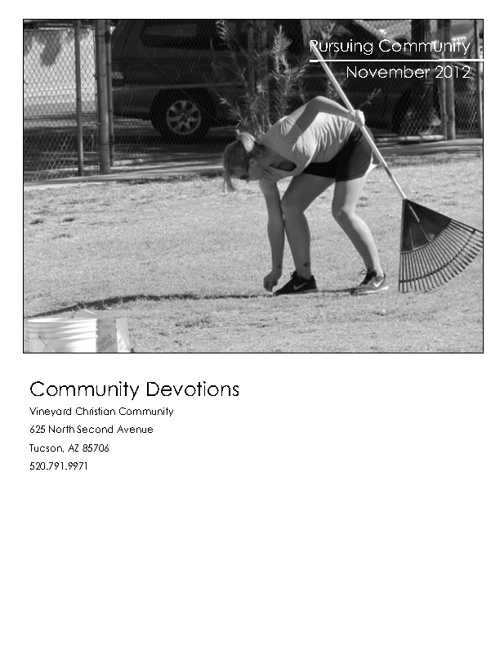 Community Devotional November 2012