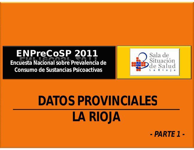 ENPreCoSP 2011_ResultadosProvincialesLaRioja_Tomo1_SDSS2015