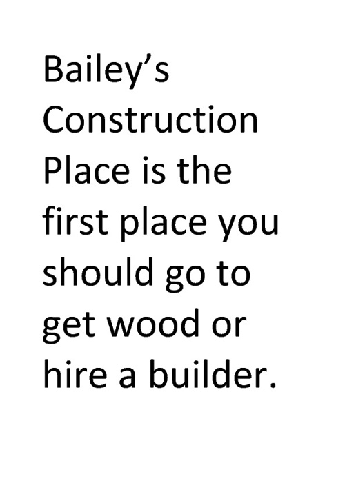Bailey's Construction Place