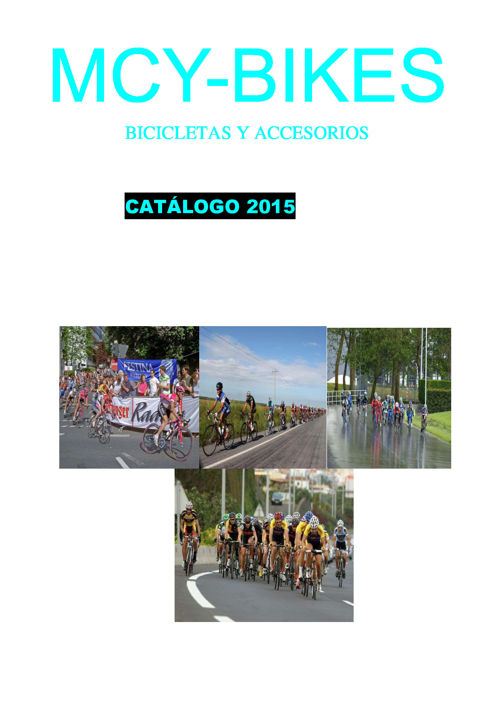catalogo bici carretera