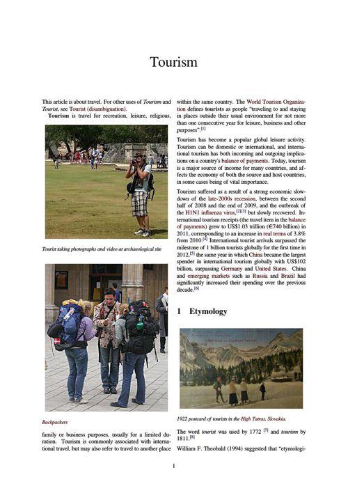 Tourism _ WFE