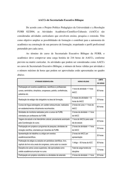 AACCs DO CURSO DE SECRETARIADO BELINGUI