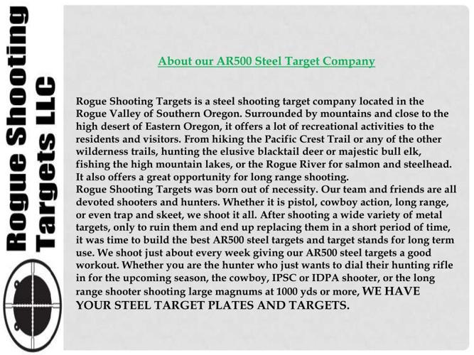 Metal Pistol Targets