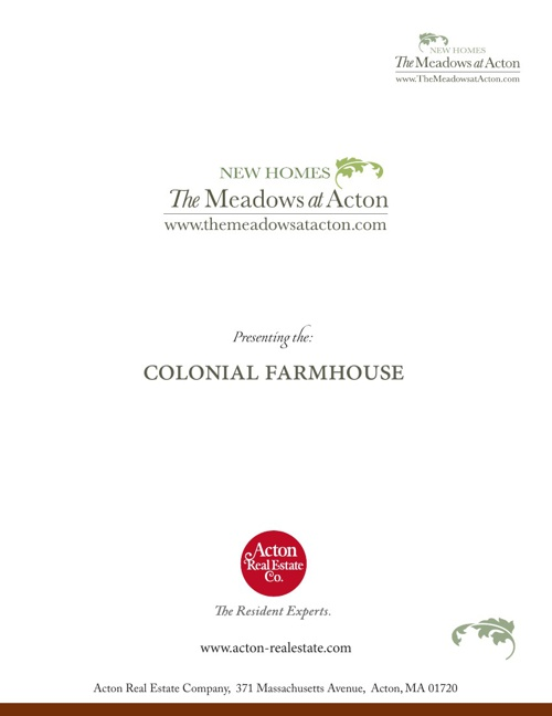 The Meadows at Acton, Colonial Farmhouse