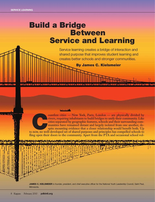 Building a Bridge between Service and Learning