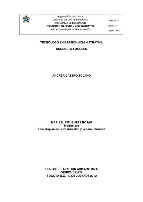 322976 CONSULTA 1 ACCESS ANDREA CASTRO SOLANO
