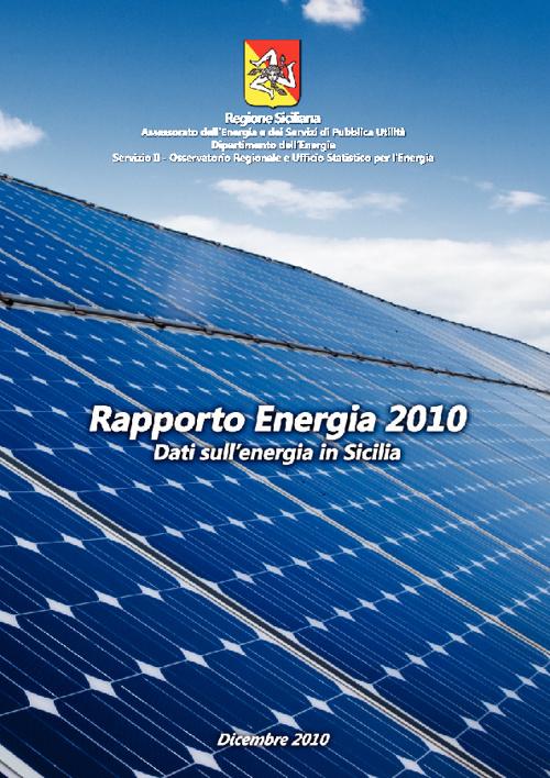 Rapporto Energia Sicilia dati 2010