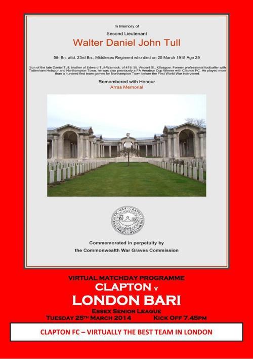 Clapton FC v London Bari FC