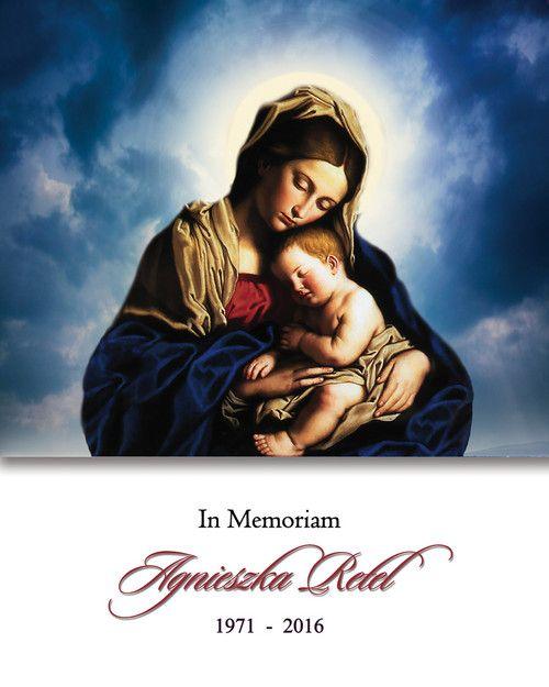 Memorial Card for Agnieszka Retel