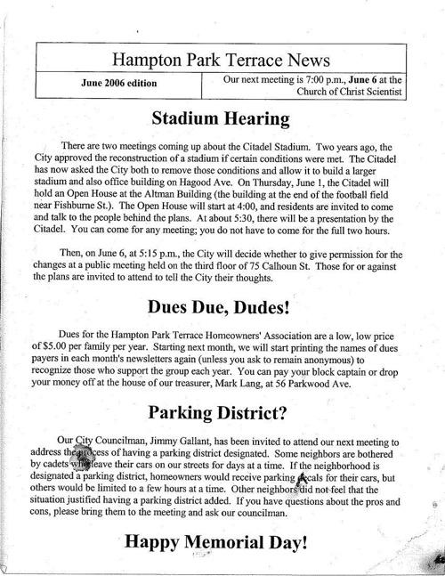 HPT Newsletter June 2006