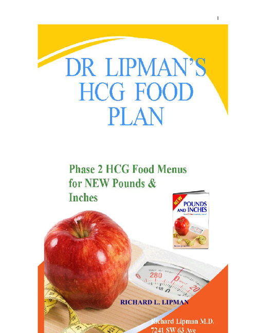 Dr Lipman's New HCG Foods for 2012 Brochure