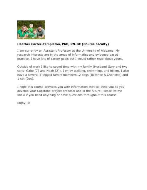 NUR 732 (901) Fall 2012 Intros