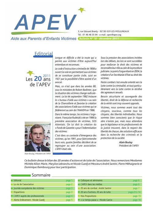 APEV : bulletin 18