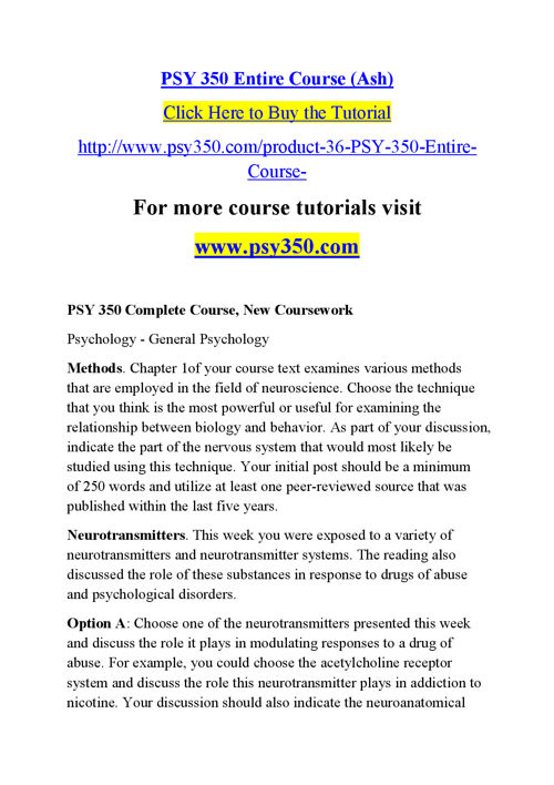 psy 250 complete course psychology of