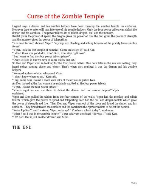 Short Story Part Three (Science Fiction)
