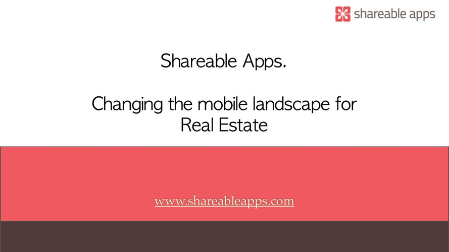 Shareable Apps - Real Estate