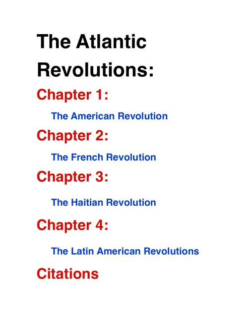 Atlantic Revolutions
