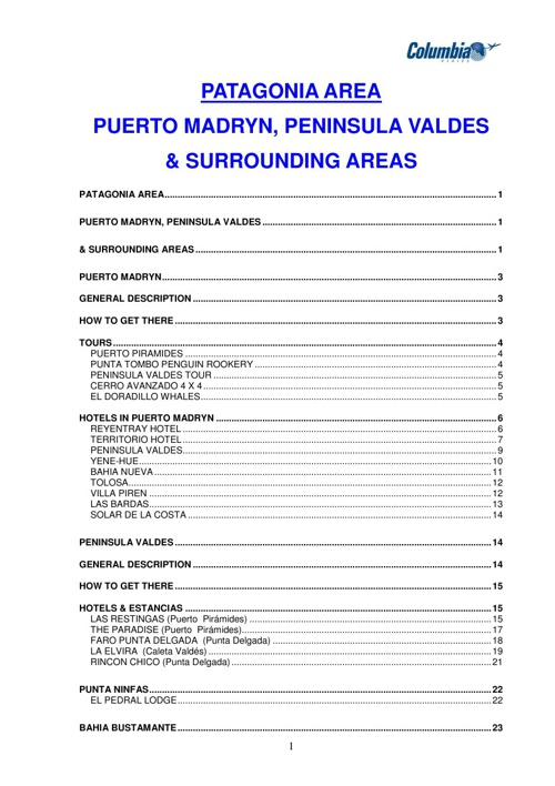 COLUMBIA VIAJES ARGENTINA INCOMING TOUR OPERATOR