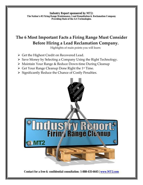 MT2 Firing Range Industry Report