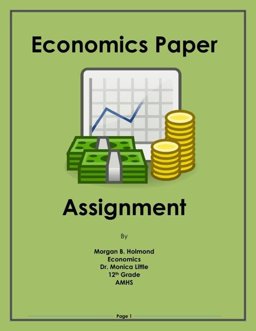 Economic Paper Summer Project