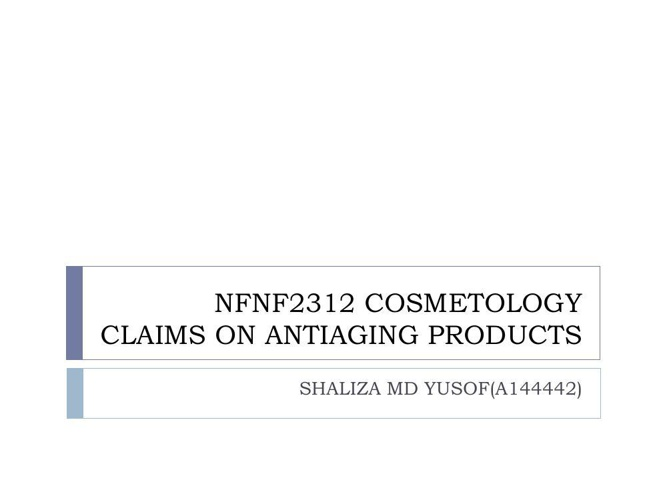 NFNF2312 COSMETOLOGY