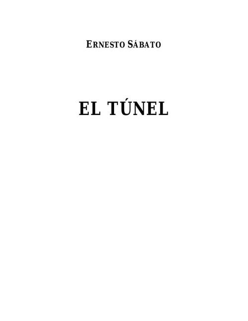 El tunel-Ernesto Sábato