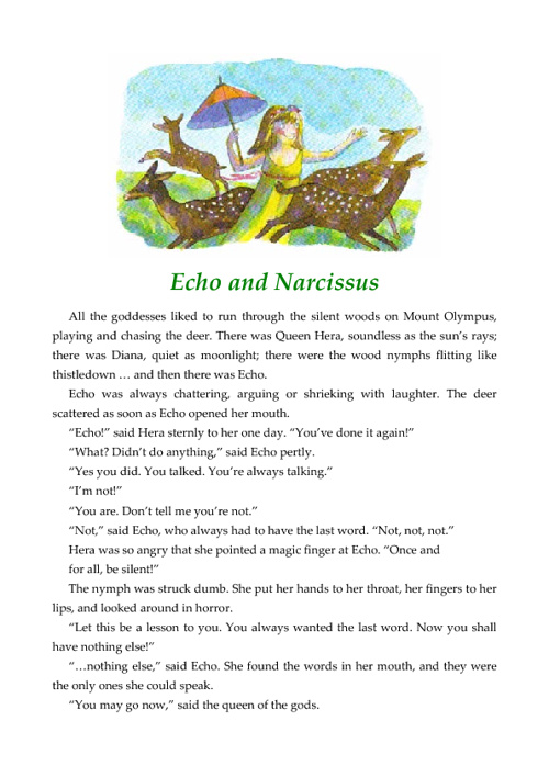 Echo & Narcissus Book Version