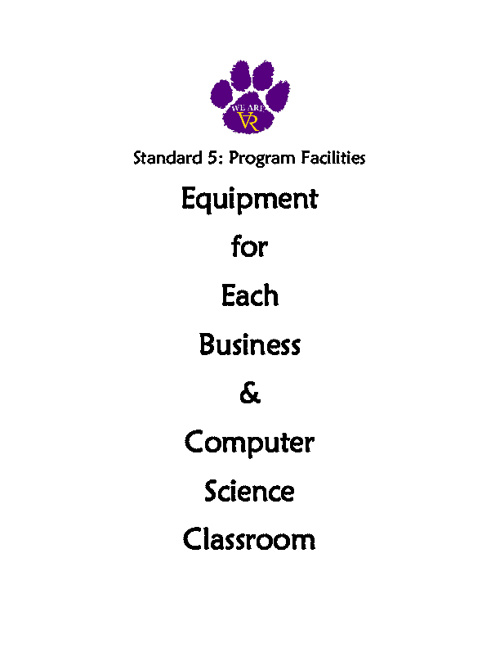 Standard 5: #40 Equipment for Each BCS Classroom