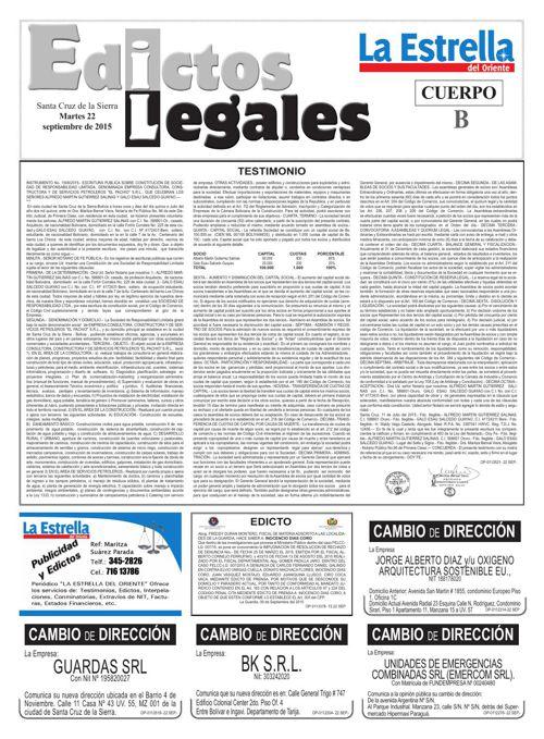 Judiciales 22 martes - septiembre 2015