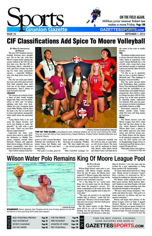 Gazette Sports | September 1, 2016