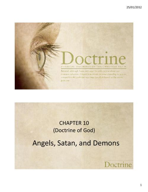 10. Angels, Satan and Demons