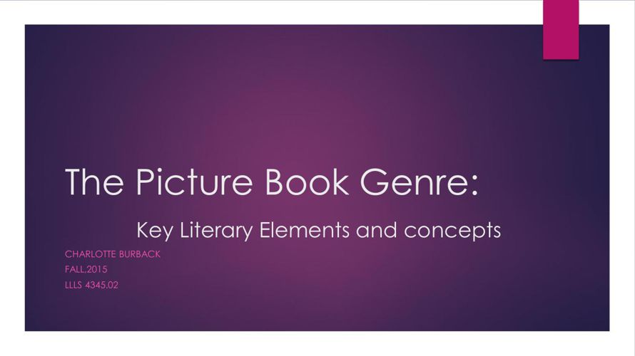 The Picture Book Genre revised