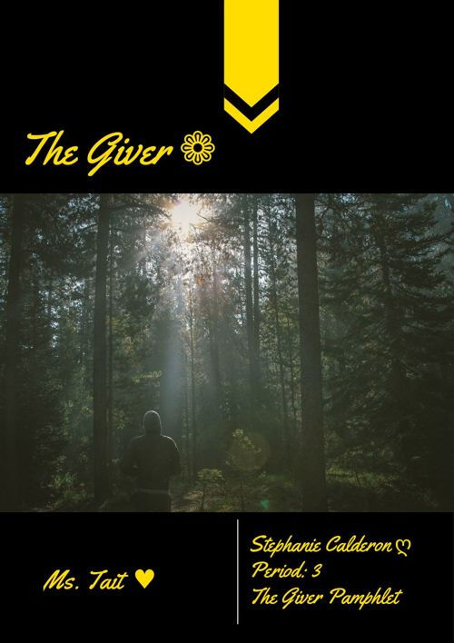 The Giver Pamphlet