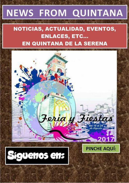 GUÍA EVENTOS QUINTANA DE LA SERENA A PARTIR 05 AGOSTO 2017
