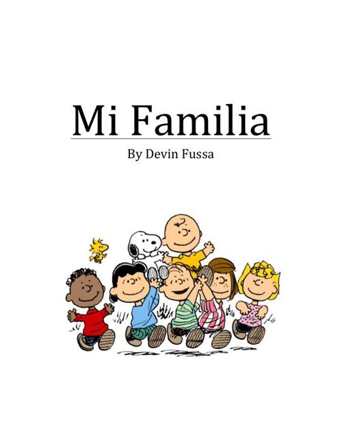 Mi Familia Spanish Project