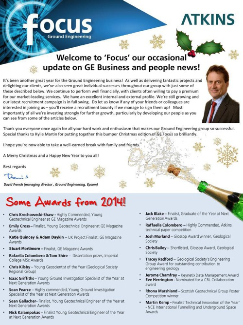 GE Focus -  Christmas 2014