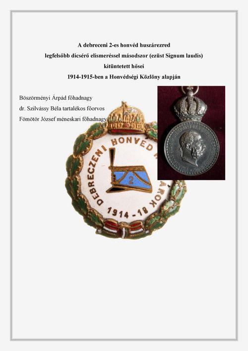 2-es honvéd huszárezred Ezüst Signum laudissal kitüntetettjei