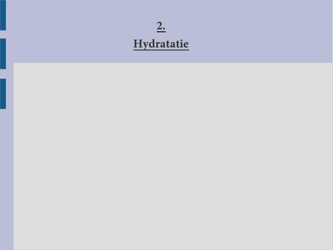 2 hydratatie
