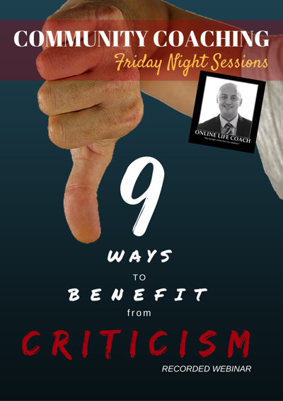 9 Ways to Benefit from CRITICISM