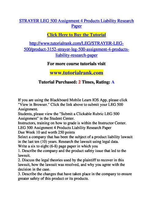 STRAYER LEG 500 Course Success Begins / tutorialrank.com