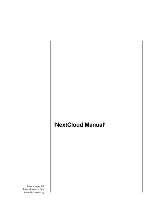 NextCloud Manual