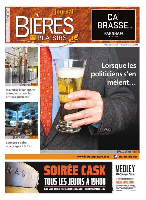 Bières et Plaisirs Volume 7 Numéro 5 - Octobre 2015