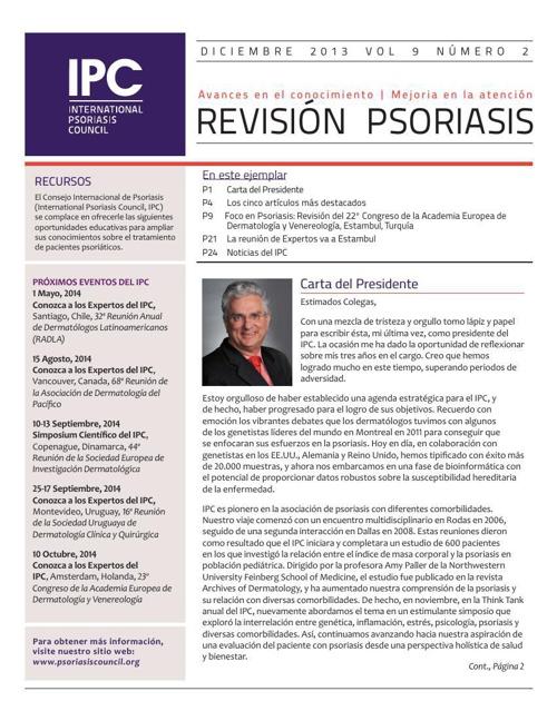 IPC's Revisión Psoriasis - Diciembre 2013