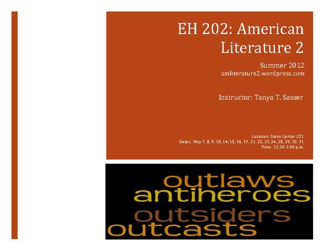 Summer EH 202 Syllabus