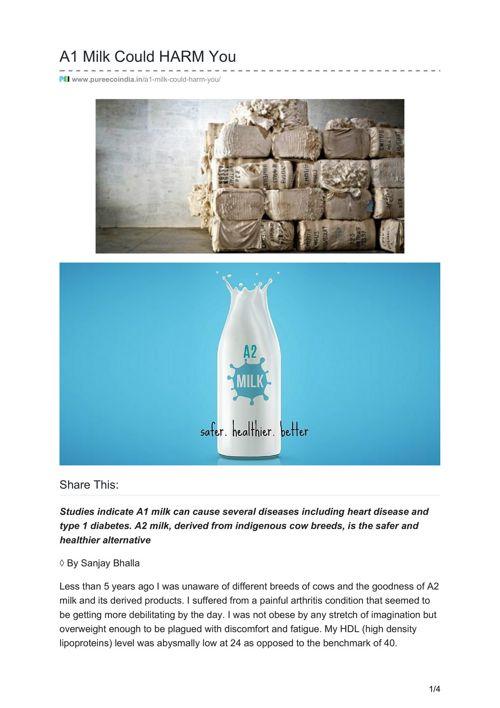 A1 Milk Could HARM You - Rutaksha Rawat