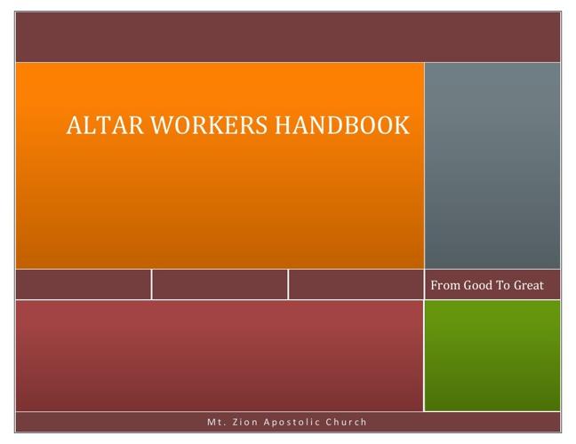 Altar Workers Handbook
