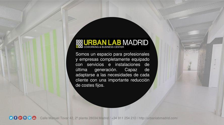 DOSSIER PRESENTACIÓN URBAN LAB MADRID