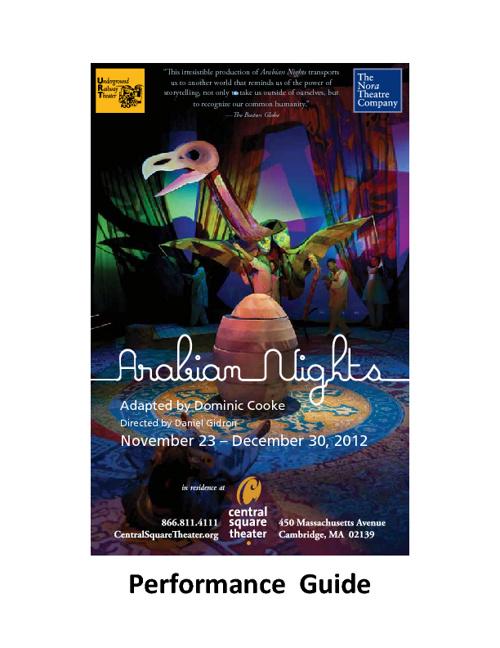 ARABIAN NIGHTS Performance Guide