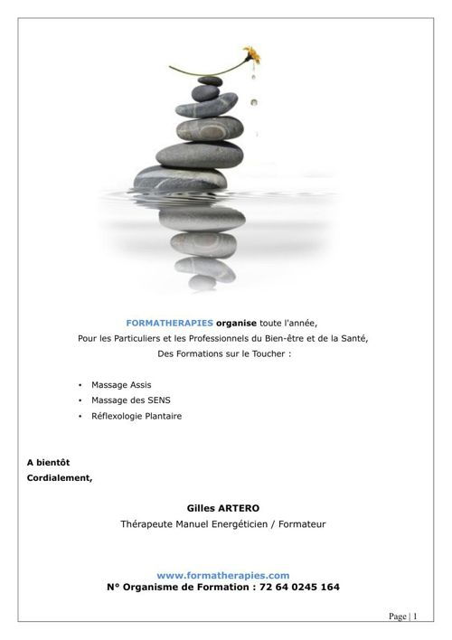 Catalogue Formatherapies 2015