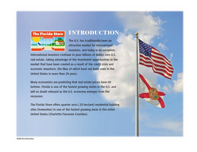 The Florida Store English Booklet